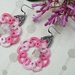 Hand Made Tatted Lace Earrings