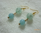 Beautiful cracked beads earring