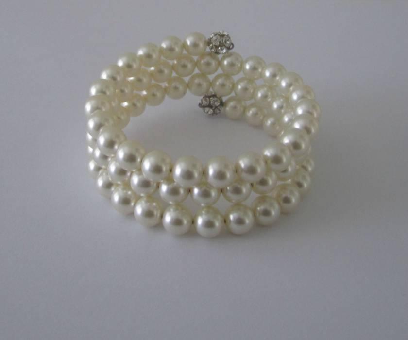 Multi-Wrap Swarovski Pearl Bracelet