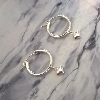 Heart/Hoop Earrings
