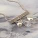Silver Triple Drop Necklace