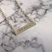 """Hand Stamped """"Aroha"""" Silver Bar Necklace"""