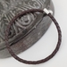 Men's Woven Leather Bracelet - Dark Brown