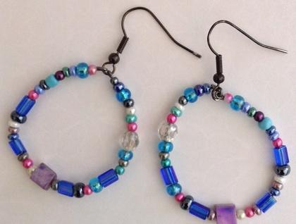 Earrings - Blueberry Sherbert - Item #218038