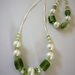 Necklace & bracelet - Pearly mint and lime