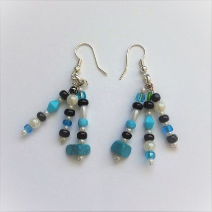 Earrings: Sea spray (Beaches range)