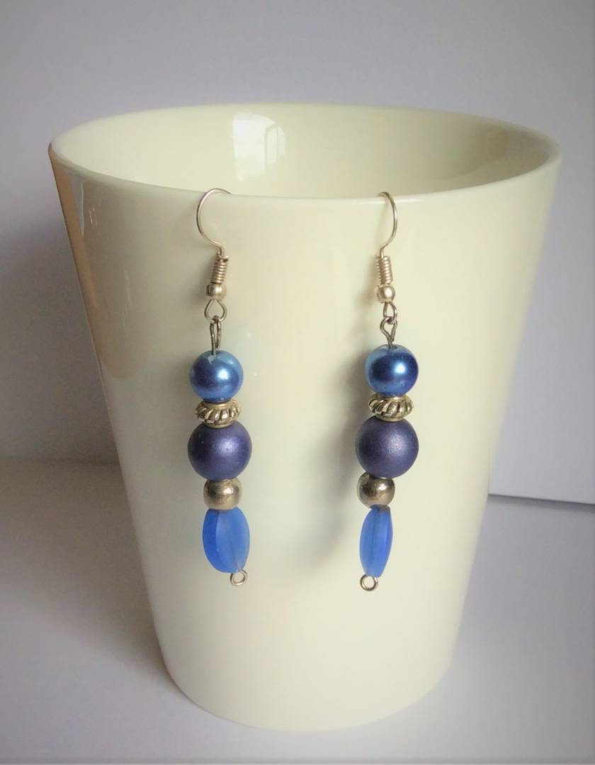 Earrings: Blue Smoke