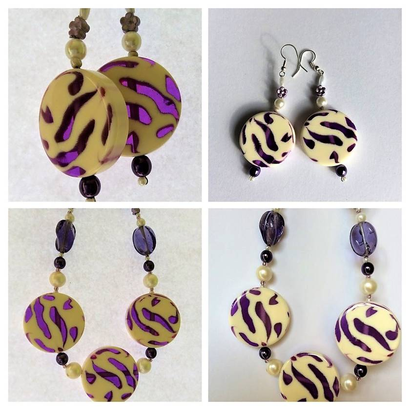 Earrings: Twilight Violet (part of a set with matching necklace)