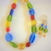 Necklace and earrings set: Rainbow Bright