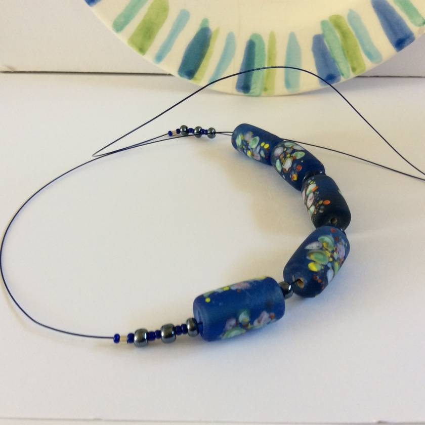 Necklace: Capri Summer - beautiful lampwork flower beads