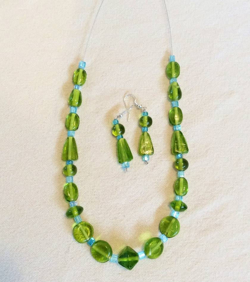 Necklace: Kiwi Lime and Mint Julep
