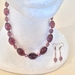 Necklace and Earrings - Rosy Finch