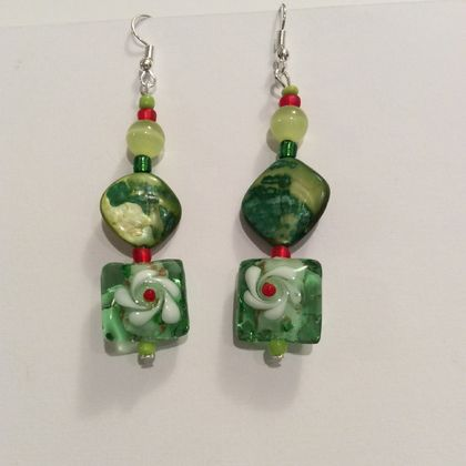 Earrings: Rosa Green-eyed Beauty (Florals range)