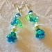 Earrings: Sky Blue Ice Rose (Florals range)