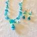 Necklace: Sky Blue Ice Rose (Florals range)
