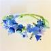 Bracelet: Gentian, Hypericum, Veronica (Floral Bouquet range)