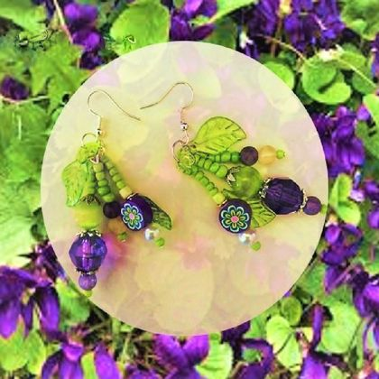 Earrings: Sweet Violet (Floral Bouquet range)