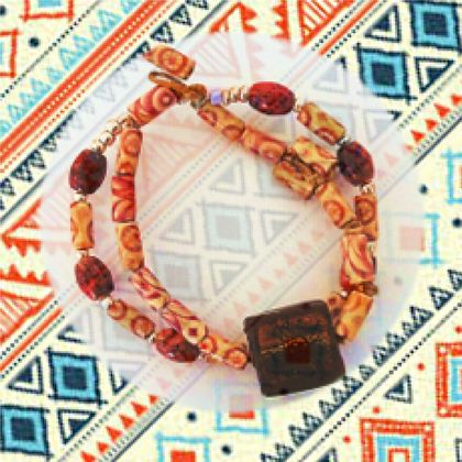 Bracelet: Abstract Boho Tribal - part of a set of three (Boho Range)