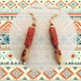 Earrings: Abstract Boho Tribal - part of a set of three (Boho Range)