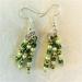 Earrings: Green Jewel Coneflower (Floral range)