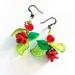 "Earrings: Rosa ""Shining Bright Holiday"" (Festive range)"