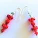 Earrings: Red Summer Tanager (Birdies range)