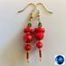 Earrings: Scarlet Finch (Birdies range)