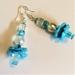 """Earrings: Boho Poppy """"Himalayan Blue"""" (Boho range) part of a set"""