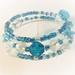 """Bracelet: Boho Poppy """"Himalayan Blue"""" (Boho range) part of a set"""