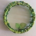 Bracelet: Green Glass Window (Boho range) part of a set