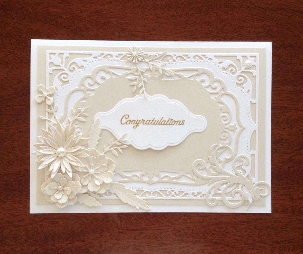 elegant handmade card felt