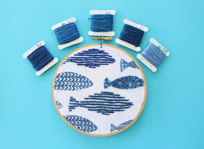 Snap out of it Modern Embroidered Hoop Art, Wall Hanging