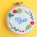 Bae Embroidered Modern Hoop Art, Wall Hanging, Needlework, Framed Art, Custom embroidery