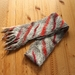 Red stripe felted scarf