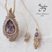 Amethyst Designed Macrame Necklace/Pendanat