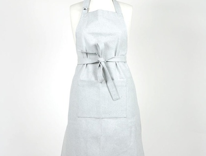 Pale blue denim apron
