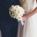 Silk Wedding Bouquet - Cream Garden Rose Luxe Bouquet