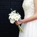 Garden Style White Roses and Hydrangea Silk Flower Keepsake Wedding Bouquet