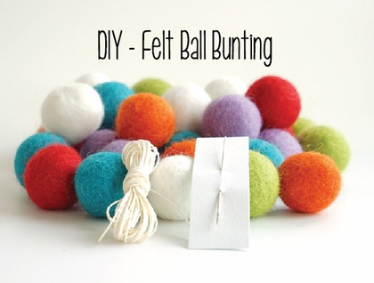 DIY - Felt Ball Garland / Bunting - 3m