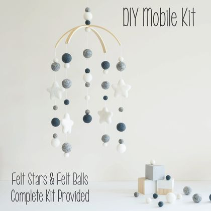 DIY Felt Ball Cot Mobile