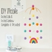 DIY Felt Ball & Rainbow Mobile
