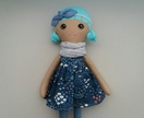 Littlepretty handmade soft doll, 55cm (mint)
