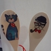 Decoupaged Wooden Spoons - Cat and Dog