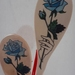 Decoupaged Wooden Spoons - Blue Rose