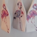 Decoupaged Wooden Stirrers - Flamingo's on Fork Wall Hanging