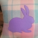 LAVENDER BUNNY UPCYCLED BLANKET CUSHION COVER