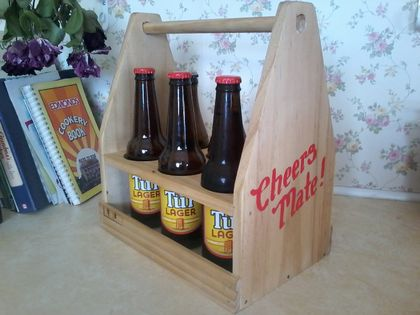 Handcrafted Wooden Beer Caddy