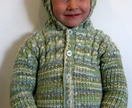 child's multicolour hoodie in rib with cables