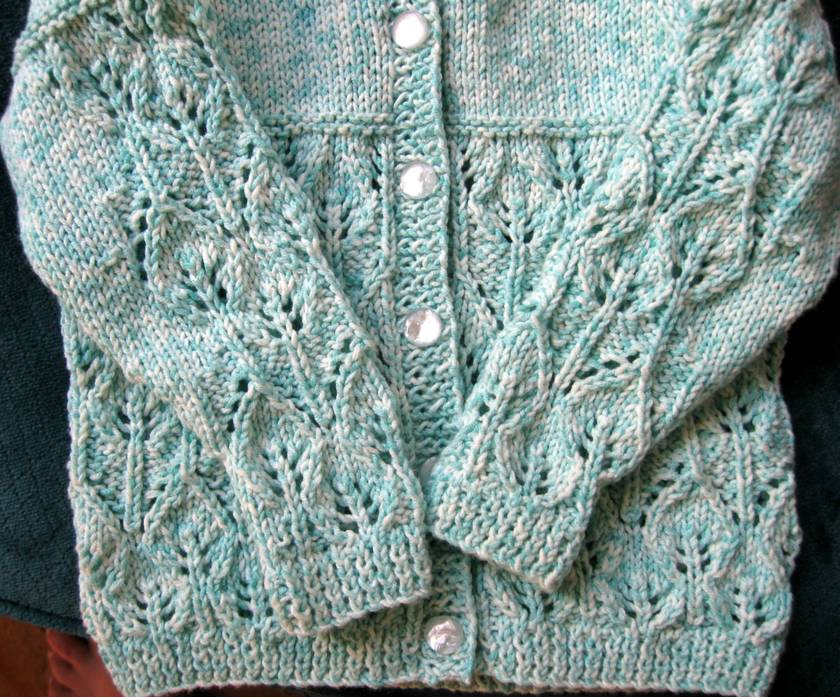 cardigan-cotton blend vintage pattern