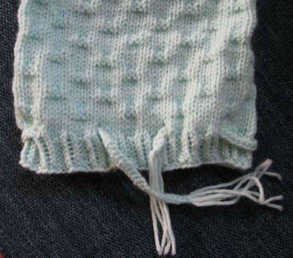 Cuddle sack and beanie for a newborn